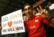 IranfanwaitingtoentertheTokyoMetropolitanGymnasium
