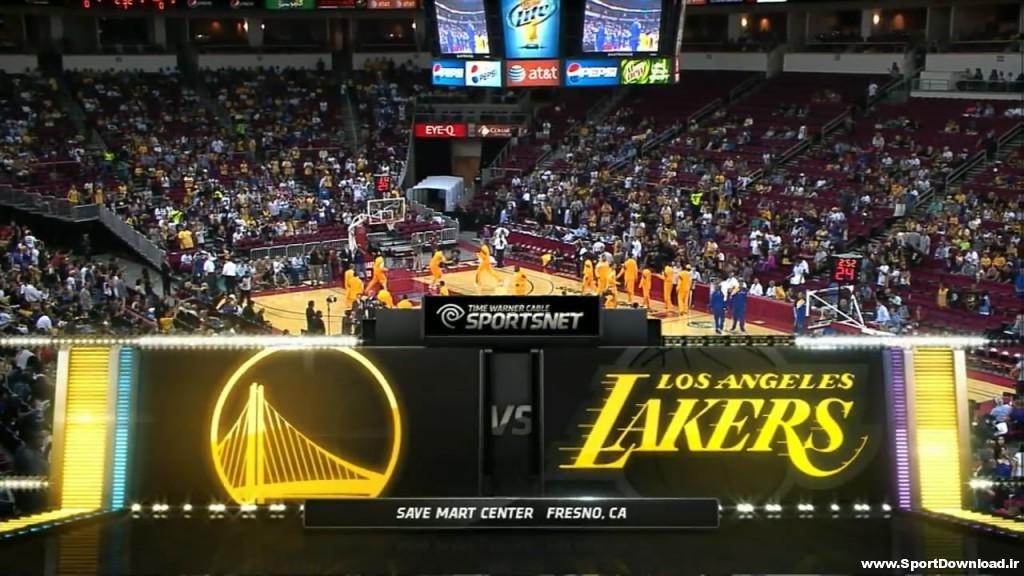 256688f730e524ad90e34be40a321f77 1024x576 دانلود مسابقه بسکتبال پیش فصل NBA گلدن استیت و لس آنجلس لیکرز