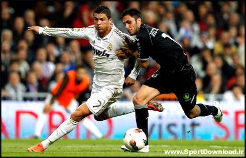 cristiano ronaldo 480 running away from a defender in real madrid 2012 دانلود بازی رئال مادرید و والنسیا جام حذفی+خلاصه